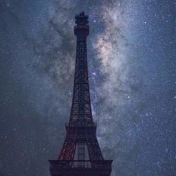 starrysky galaxy milkyway building architecture dpccitymonuments freetoedit