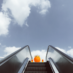 escalatorremix freetoedit pumpkin crown candycorn