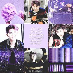 rapmonster bts kimnamjoon purple aesthetic