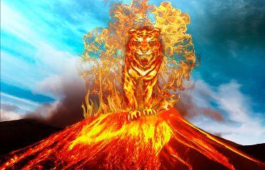 freetoedit fire tiger volcano fantasy