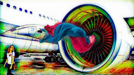 freetoedit myedit airplane woman@effect@22sk woman