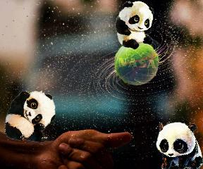 freetoedit panda nasa nasalogo ball