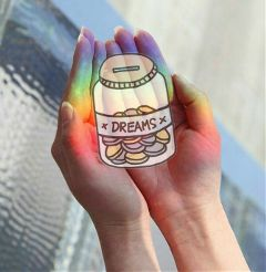 happyday dreams hands rainbow freetoedit