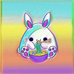 freetoedit remixit bunny rainbow colorsplash