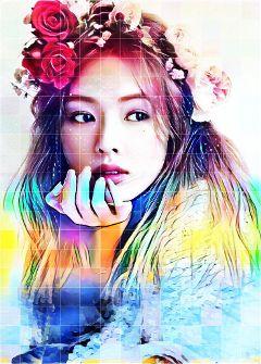 hyuna colorfull multiefect hyunalover colorido