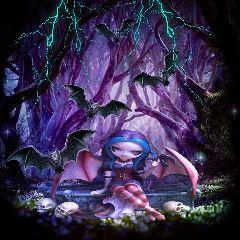 freetoedit darkart vampire bats lightning