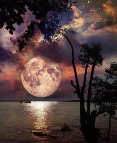 freetoedit nature moon night light