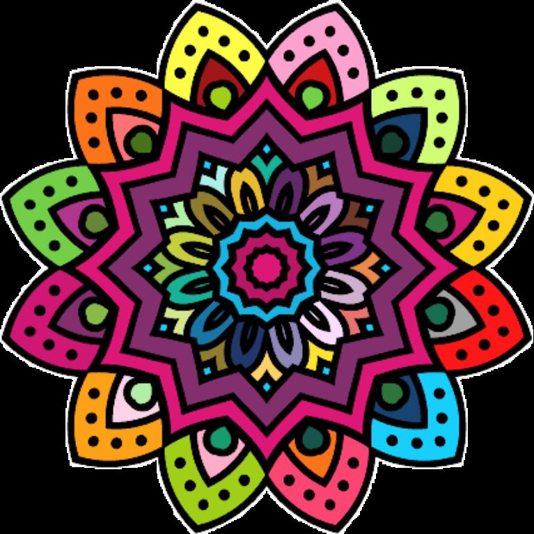 Mandala Color Flor Colorido Sticker By Jeni Pop - Mandalas-en-color
