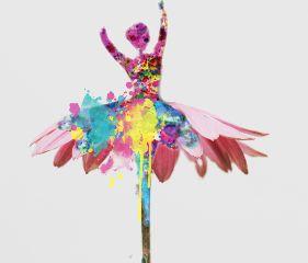 freetoedit remixit ballerina flower splattered