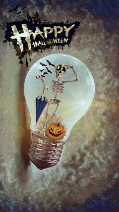 freetoedit lightbulb happyhalloween myartwork