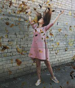 pinkdressremix freetoedit myedit seasons fall