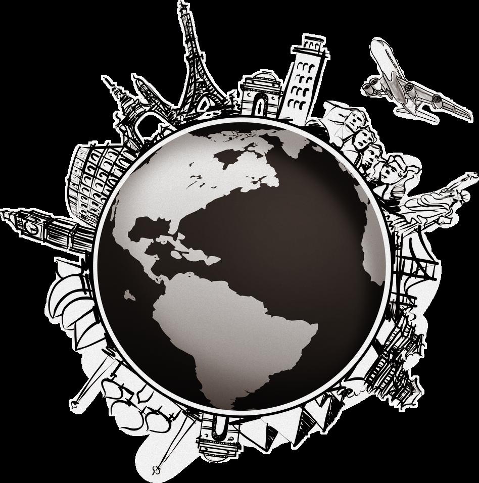 Adventure Travel World Globe Map Compass