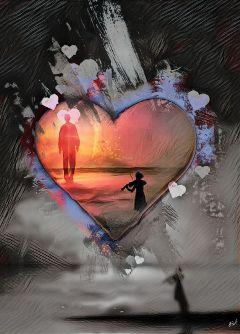 colorsplash woman heart love music