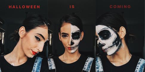 freetoedit halloween halloweenmakeup skull skullmakeup