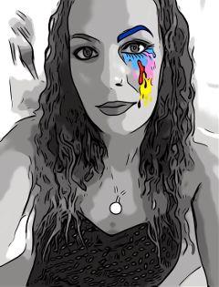 freetoedit artisticselfie blackandwhite artist selfportrait