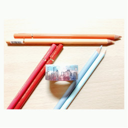 color colorful colorpencil rainbow stationery