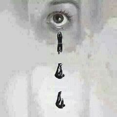 cry eye girl man men