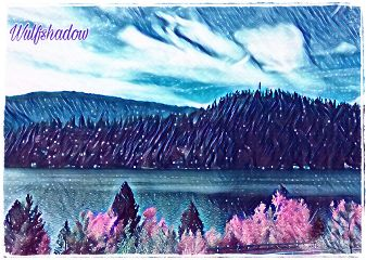 galaxymagiceffect idaho scenic mountains truckersview