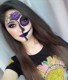 halloween halloweenmakeup makeup girl wapfundfairfaces dpcscaryselfie freetoedit
