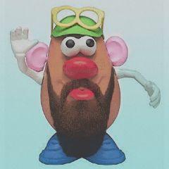 nobearddaystickerremix freetoedit mrpotatohead beard