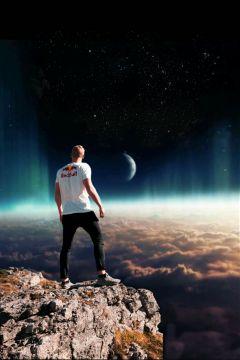 freetoedit galaxy sky planet boy