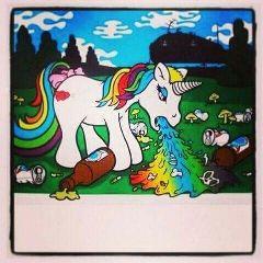 freetoedit unicorn barfing rainbowlight