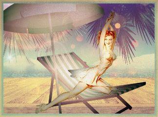 vintage playa beach pinup madewithpicsart freetoedit