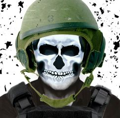 freetoedit skull army solider debri