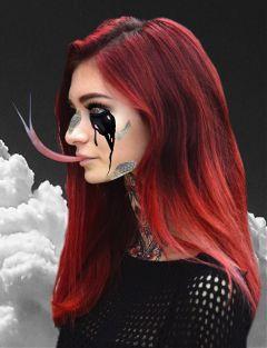 freetoedit snake redhead scary