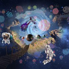 freetoedit levitation space pug planets