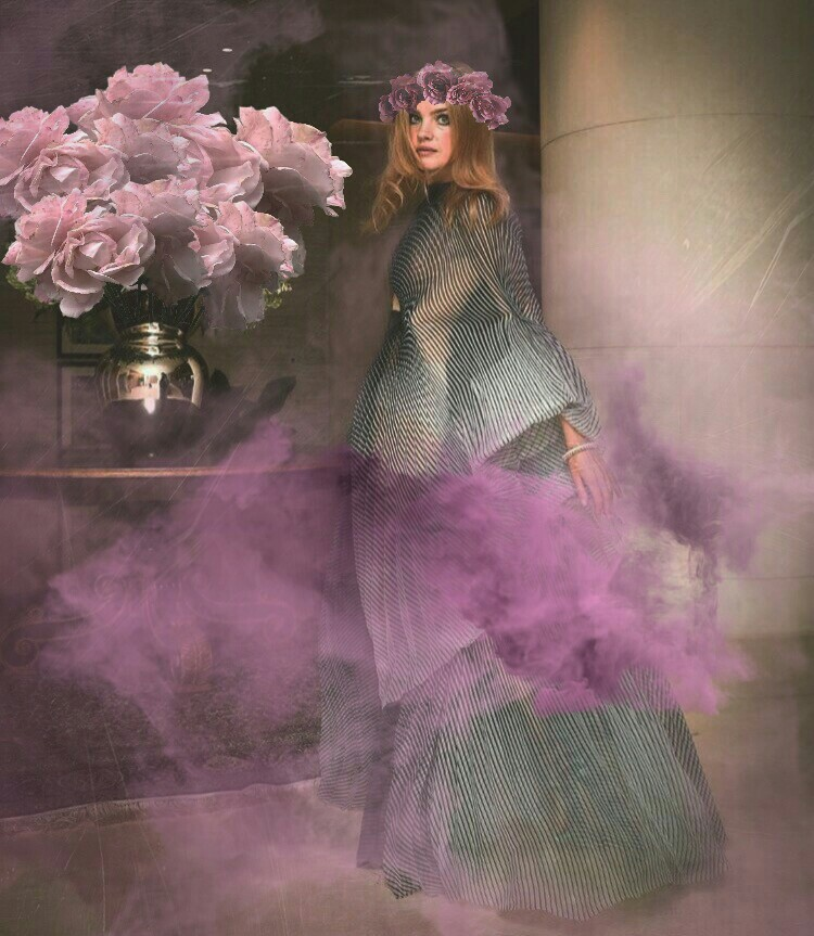 #fundfairvip #halloween #smoke #mist #roses #girl #violet #mystical #flowercrown #dreamy #magic