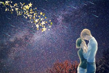 freetoedit meteorshower stars love couple