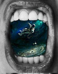 freetoedit meteorshower space mouth lips