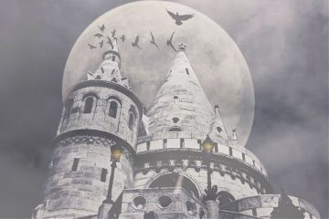 freetoedit remixedwithpicsart moon spooky castle