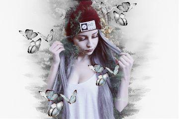 freetoedit remix doubleexposures forest girl