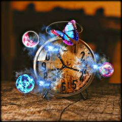 freetoedit time timepass galaxy blue