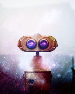 binocularremix robot galaxies stars space