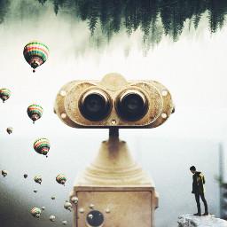 binocularremix binocular fog adventure myedit freetoedit