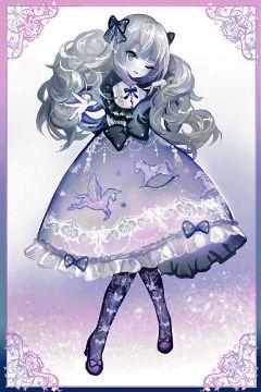 cute girl digital art colorful