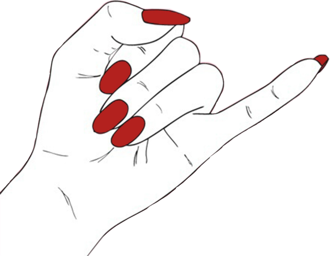 Hand Tumblr Grunge Edgy Aesthetic Nails Nail Red Black