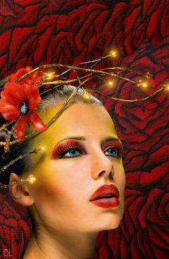 wall inspiration red roses muralart freetoedit