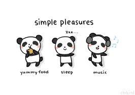 simplepleasures life food sleep music