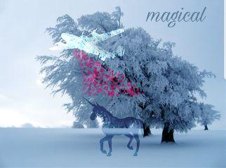 freetoedit unicorn plane hearts winterwonderland
