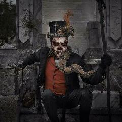 freetoedit halloween voodoopriest scary skeleton