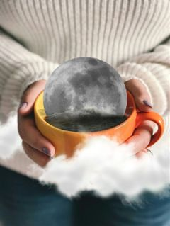 moon clouds hands sweater cup freetoedit