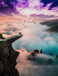 madewithpicsart edited foggy sky magical