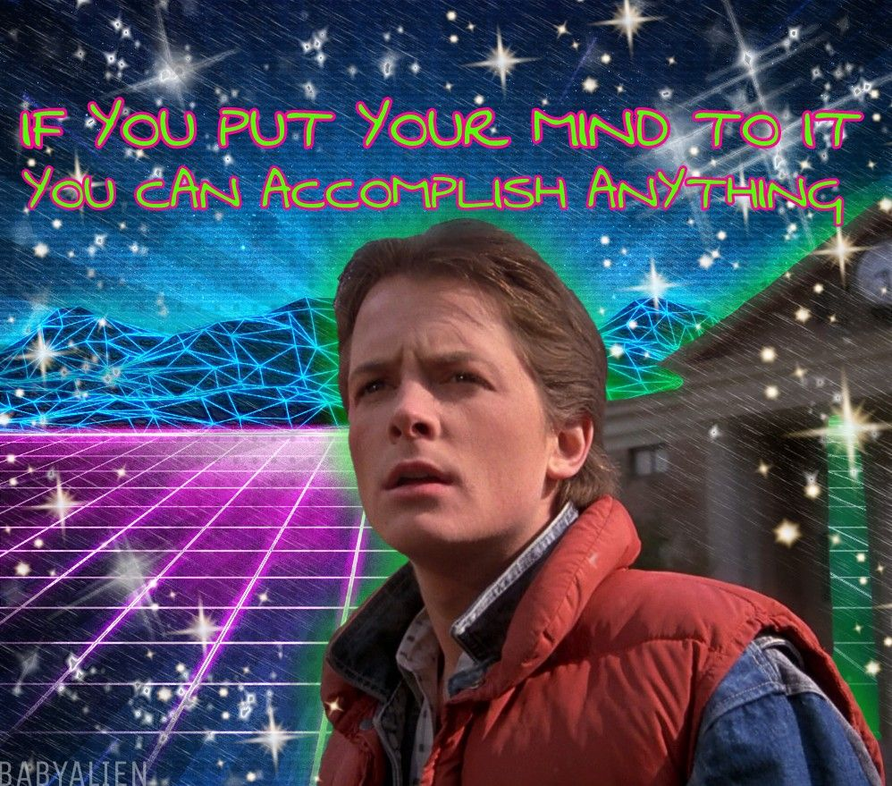 babyalien martymcfly backtothefuture 80s space science