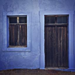 veryoldhouse cobaltbluewalls doorandwindow woodenmade softgrungetextures
