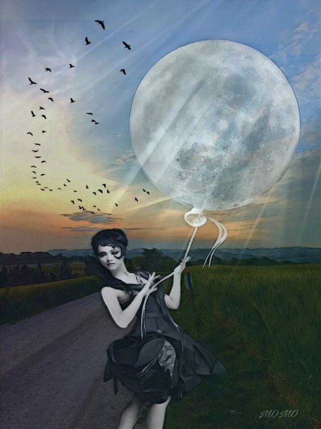 #surreal #moon #remixed @sona75