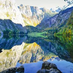 freetoedit autumn reflection sea landscape